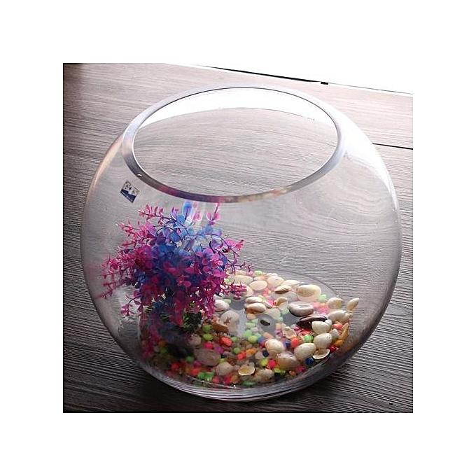 Buy Universal 35cm Round Clear Glass Vase Fish Tank Ball Bowl Flower