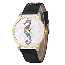 Africanmall store Women Quartz Analog Wrist Dial Delicate Watch Luxury Watches-Black