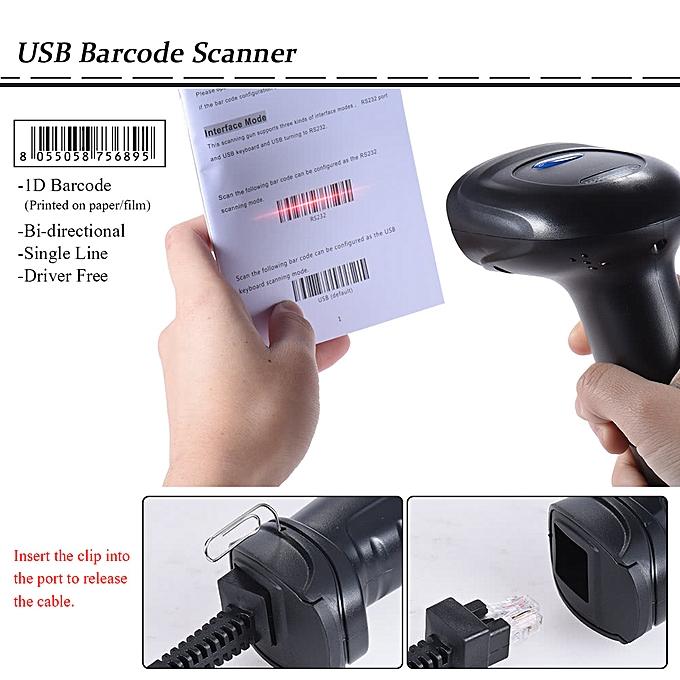 Handheld 1D USB Barcode Scanner Bar Code Reader