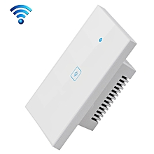 WS-US-01 EWeLink APP & Touch Control 2A 1 Gang 1 Way Tempered Glass Panel Smart Wall Switch, AC 90V-250V, US Plug