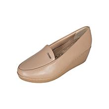 Women's Square Toe Contoured Wedge Heel