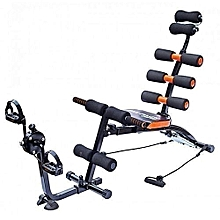 Six Pack care machine with pedals - Black &Orange