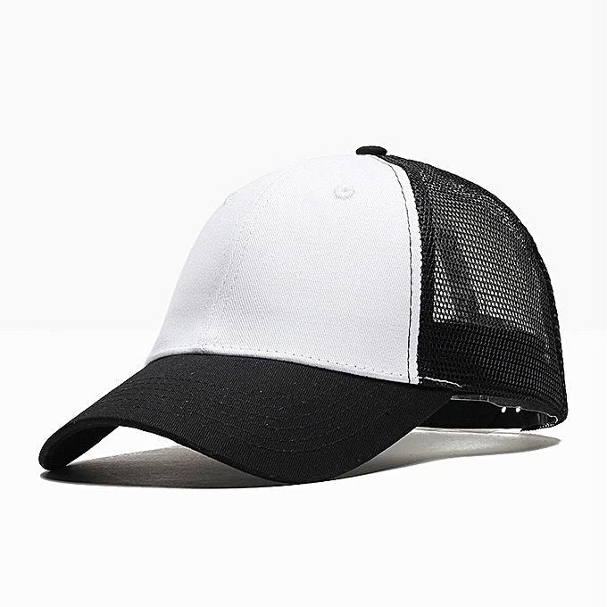 Outdoor Baseball Hats Men s Breathable Net Caps Pure Colored Duck Tongue  Caps Sunscreen Sunshade Caps b92c74d3c4f