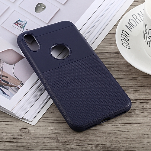 separation shoes bc92d e6c91 Anti-slip Square TPU Case for iPhone X / XS (Blue)