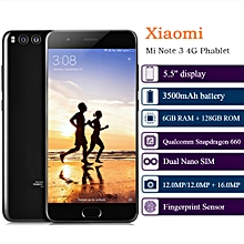 Xiaomi Mi Note 3 5.5-Inch (6GB, 128GB ROM), MIUI 9.1 Fingerprint Sensor