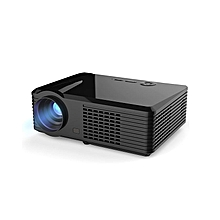 Multifunctional Home Theater LED Projector PRS200 With Keystone Correction For Desktop Laptop - Black