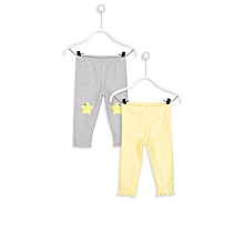 Grey and Yellow Fashionable Trousers Set
