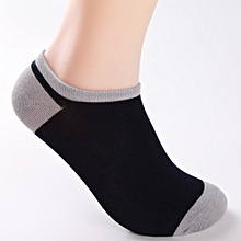 5 Pairs Men Bamboo Fiber Loafer Boat socks Liner Low Cut No Show Socks