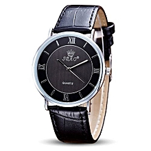 SBAO Fashionable Retro And Vintage Simple Temperament Couple High-grade Business Watch- Black
