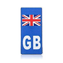 142048063235 Motorcycle GB UK Union Jack Flag Badge Vinyl Sticker For Moto Number Plate