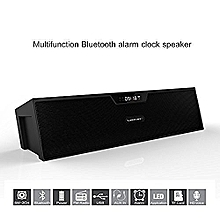 Sardine SDY-019 Portable Wireless Bluetooth Stereo Speaker with 2 X 5W Speaker Enhanced Bass Resonator, FM Radio, Built-in Mic, LED Display, Alarm clock, 3.5 mm Audio Jack, support TF card/Micro SD card and USB input(Black) By BDZ