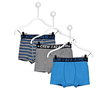 Boy Grey Boxer Set