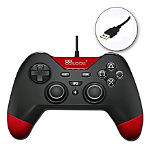 USB Wired Gamepad Controller for Play Station PS3 / PC / Android  / PSVita TV / PC XBOX360 (Red)