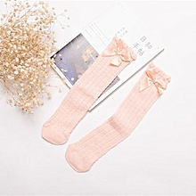 Baby Girls Bowknot Socks Thin Mesh Cotton Stockings