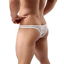 Men's Underwear Intimates  Men Underwear Sexy Translucent Triangle Briefs Breathable Underpants WHXL@White