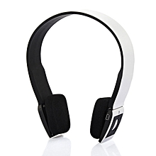 GuoaivoBluetooth Stereo Headphone Adjustable Wireless Headset For Cell Phone WH -White