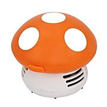 Cute Mini Mushroom Corner Desk Table Dust Vacuum Cleaner Sweeper-Orange