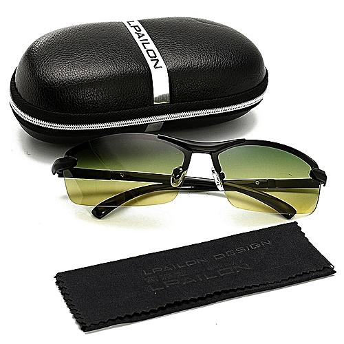 09d5328e7c Generic Day Night Vision Men s Polarized Sunglasses Driving Aviator Mirror  Sun Glasses  Black+Box+Cloth   Best Price