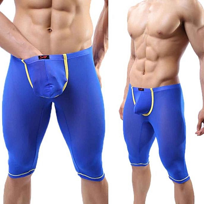 singedanFashion Sports Men s Sexy Underwear Compression Base Layer Shorts  Pants BU S -Blue d6644ed1d6dd
