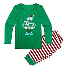 bluerdream-Christmas Family Men Matching Pajamas Sleepwear Nightwear Two-pieces Outfits -Green