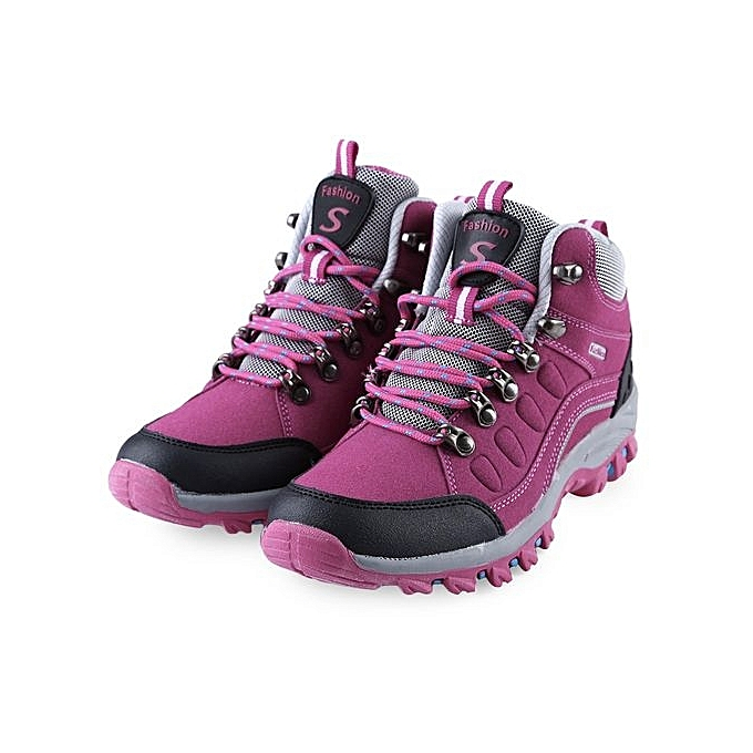 fashion casual outdoor lace up ladies hiking sports shoes