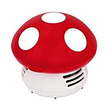 Cute Mini Mushroom Corner Desk Table Dust Vacuum Cleaner Sweeper-Red