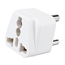 Universal 250V India to Africa 3 Pins Type D Plug Travelling Adapter White
