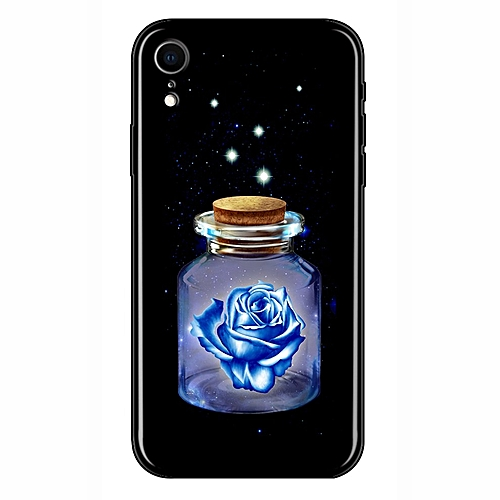 new arrival 2cb67 cdcc5 CO Luminous Glasses Phone Cases Space Night Shine Glass Case-black