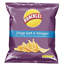 Zingy Salt & Vinegar Potato Crisps - 150g