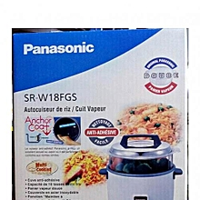 1.8L Rice Cooker, 600W Rice Cooker 1.8 Ltr, Non Stick Pan, Steamer (3 Pin)