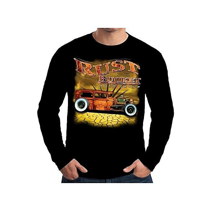 d9ee170c7d9a Mens Long Sleeve T Shirt Rust Bucket Rat Rod Tees Men's Funny T-shirt