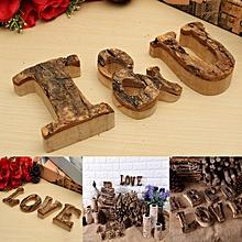 Vintage Wooden Letter Alphabet A-Z-& Name Plaque Signs Wall Door Wedding Decor-E