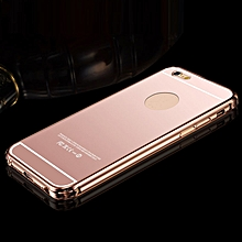 Ultra-thin Aluminum Metal Mirror Case Cover for iPhone 6 4.7&#39&#39 Rose Gold- Rose Gold