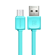 REMAX RC-008i Fast Series Data Cable 1 Meter Micro USB for Android - Blue VVAXIANG