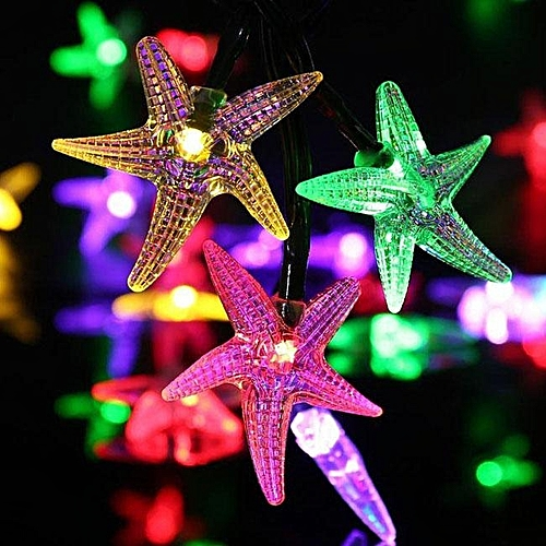 Generic Solar Christmas light string 30led starfish festive lights outdoor decorative string lights Colorful