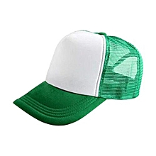 New Arrival Adjustable Child Solid Casual Hats For New Classic Trucker Summer Kids Baseball Golf Mesh Cap Sun Hats(Green)