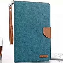 High Quality Cowboy Fabric Flip Cover Case for Apple iPad Tablet mini 2(Green) CHD-Z