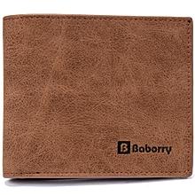 Men's wallet Korean short wallet wallet purse-brown