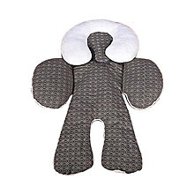 Baby Head & Body Support CarSeat Pillow Infant Nursing Strollers Double-Sided Cushion- Grey