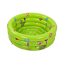 80x30cm Inflatable 3 Ring Round Swimming Pool Toddler Children Kids Outdoor Play