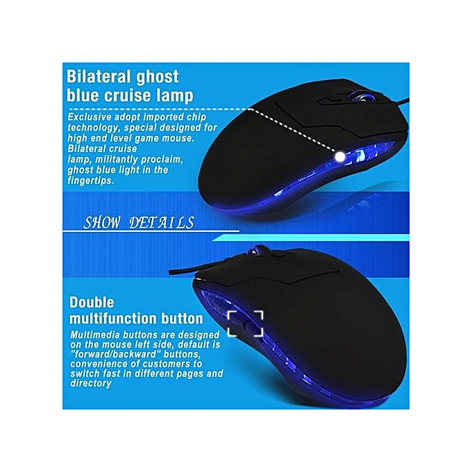 28ebbb31480 ... 2400 DPI LED 6 Button Key Optical USB Wired Mouse For Game Laptop  Computer-black ...