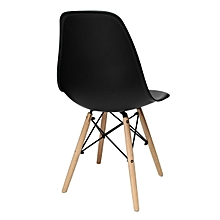 Eiffel Dining Chair  Retro Vintage Style Lounge Dining Room - ABS Plastic Wood Black