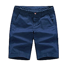 Mens Summer Loose Casual Chino Shorts Cargo Cotton Sport Half Pants Trousers
