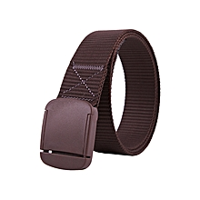 New hypoallergenic and quick-drying canvas belt without metal plastic smooth buckle men's nylon belt-125CM-cafe