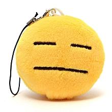 Lovely Emoji Smiley Emoticon Soft Stuffed Plush Round Cushion Toy Doll 2 INCH
