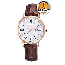 Brown Flawless Ladies Wrist Watch