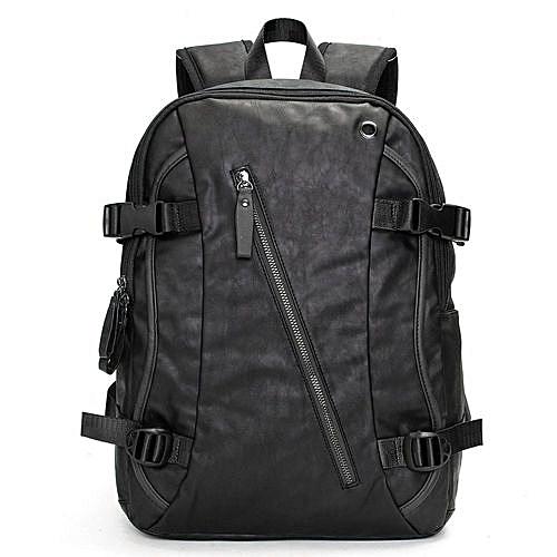 0e1410f1be8d Men Vintage PU Leather Backpack School Bag Travel Satchel Laptop Bag  Rucksack