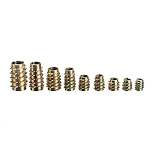 10 Pcs 9 Size M4 M5 M6 M8 M10 Hex Drive Screw In Threaded Insert For Wood (M6x13)