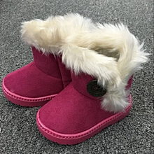 Fashion Winter Baby Girls Child  Snow Boots Warm Shoes- Hot Pink
