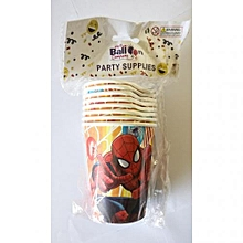 Spiderman party cups-8pieces-multicolored